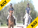 Gail Greenough<br> Jumper Equitation<br> Assisting<br> Alexis Tumbach<br> Charly<br> Holsteiner<br> 12 yrs. old Gelding<br> Training:1.40meters<br>         &<br> Tye McAllister<br> Mon Pleasure<br> KWPN<br> 16yrs. old Gelding<br> Training